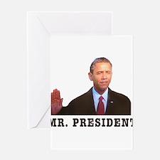 Mr. President Greeting Card