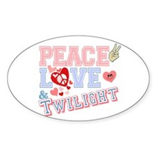 Peace Love Twilight Oval Decal