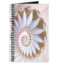 """White Nautilus"" Fractal Art Journal"