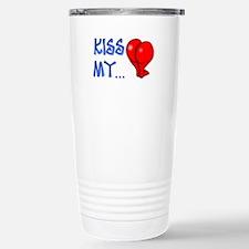 """Kiss My"" Stainless Steel Travel Mug"