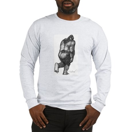 2-PattyRearSketch Long Sleeve T-Shirt