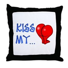 """Kiss My"" Throw Pillow"