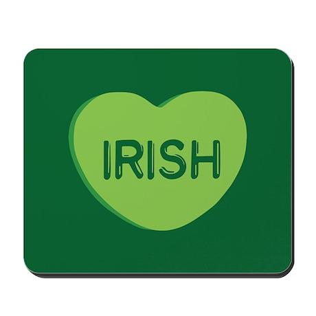 Irish Candy Heart Mousepad