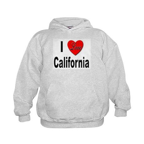 I Love California (Front) Kids Hoodie