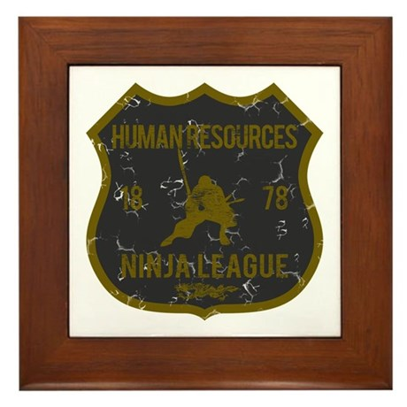 Human Resources Ninja League Framed Tile