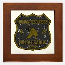 Human Resources Ninja League Framed Tile