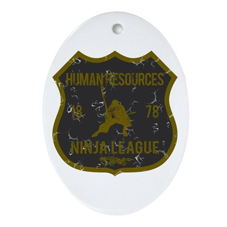 Human Resources Ninja League Oval Ornament