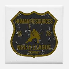 Human Resources Ninja League Tile Coaster