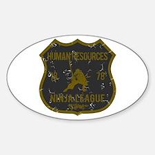 Human Resources Ninja League Oval Decal