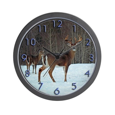 Buck & Doe Wall Clock