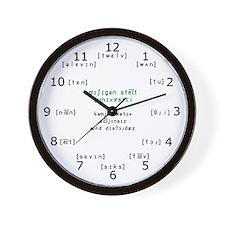Phonetic MSU CSD Wall Clock