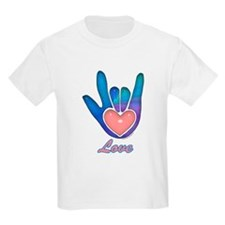 Blue Glass Love Hand T-Shirt