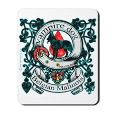 Belgian Malinois Vampire Dog Mousepad