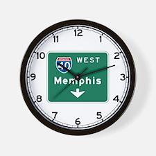 Memphis, TN Highway Sign Wall Clock