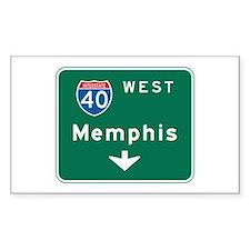 Memphis, TN Highway Sign Rectangle Decal