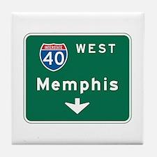 Memphis, TN Highway Sign Tile Coaster