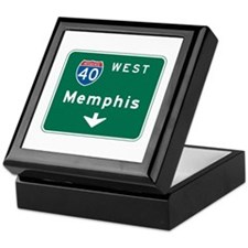 Memphis, TN Highway Sign Keepsake Box