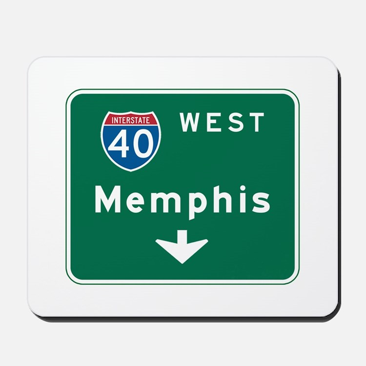 Memphis, TN Highway Sign Mousepad