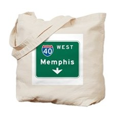 Memphis, TN Highway Sign Tote Bag