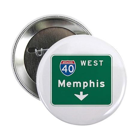 "Memphis, TN Highway Sign 2.25"" Button (10 pack)"