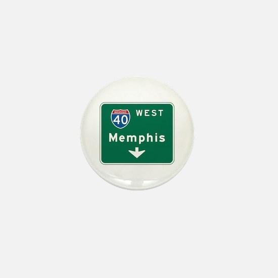 Memphis, TN Highway Sign Mini Button