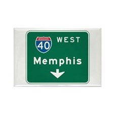 Memphis, TN Highway Sign Rectangle Magnet