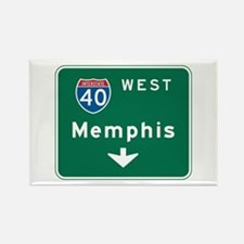 Memphis, TN Highway Sign Rectangle Magnet