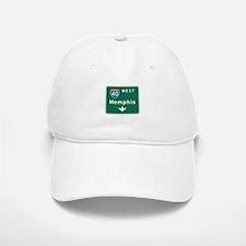 Memphis, TN Highway Sign Baseball Baseball Cap