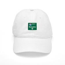 Memphis, TN Highway Sign Baseball Cap