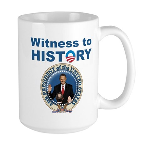 President Obama first black president Large Mug