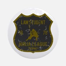 Law Student Ninja League Ornament (Round)