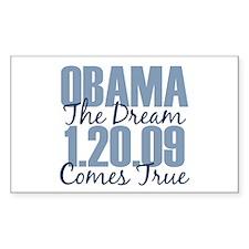 Obama The Dream Comes True Rectangle Decal