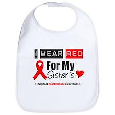 I Wear Red Sister Bib