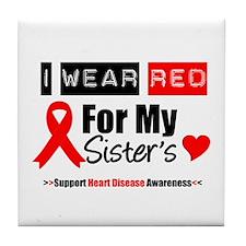 I Wear Red Sister Tile Coaster