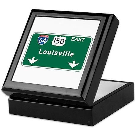 Louisville, KY Highway Sign Keepsake Box