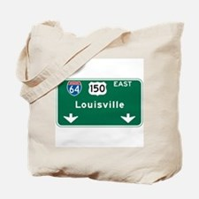 Louisville, KY Highway Sign Tote Bag
