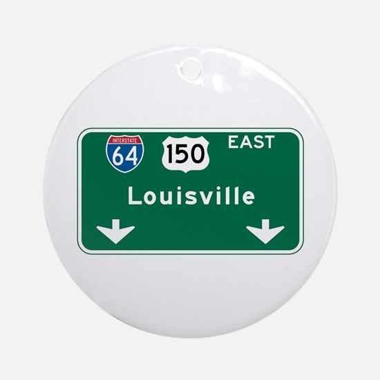 Louisville, KY Highway Sign Ornament (Round)