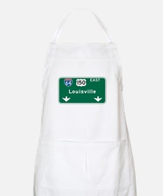 Louisville, KY Highway Sign BBQ Apron