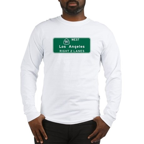 Los Angeles, CA Highway Sign Long Sleeve T-Shirt