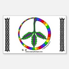 Indican Peace - Rectangle Decal