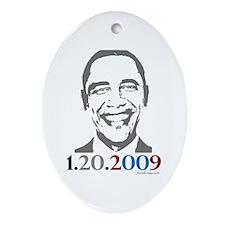 Obama 1-20-2009 Inauguration Oval Ornament