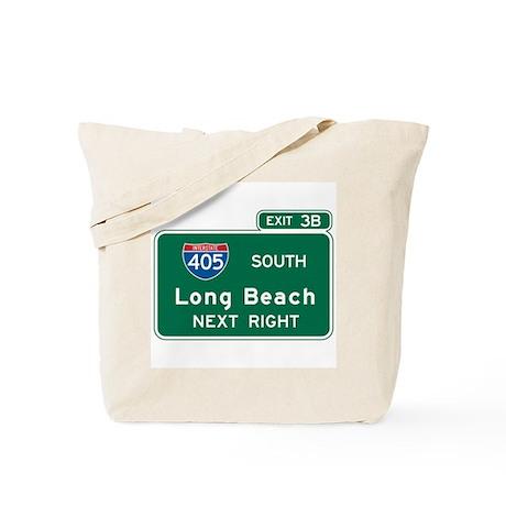 Long Beach, CA Highway Sign Tote Bag
