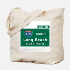 Long Beach, CA Highway Sign Tote Bag