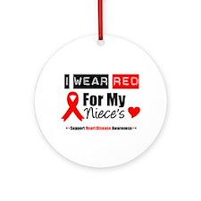 I Wear Red Niece Ornament (Round)