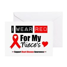 I Wear Red Niece Greeting Cards (Pk of 10)