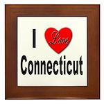 I Love Connecticut Framed Tile
