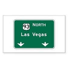 Las Vegas, NV Highway Sign Rectangle Decal