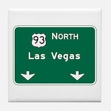 Las Vegas, NV Highway Sign Tile Coaster