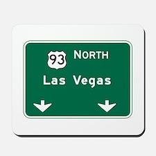 Las Vegas, NV Highway Sign Mousepad