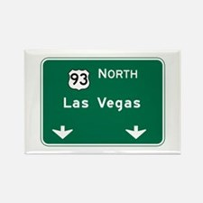 Las Vegas, NV Highway Sign Rectangle Magnet